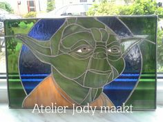 Star wars Yoda in glas. Star Wars, Stars, Painting, Atelier, Painting Art, Sterne, Paintings, Starwars, Painted Canvas