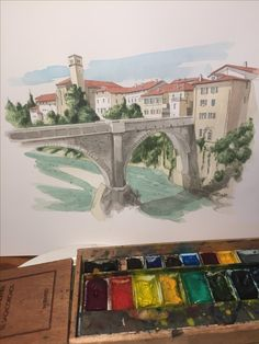 Watercolor Ideas, Watercolor Landscape, Albania, Watercolours, Abstract, Painting, Art, Drawings, Shop Signs