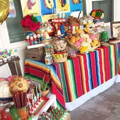 Fiesta / mexican birthday party ideas photo 6 of 26 catch my Mexican Birthday Parties, Mexican Fiesta Party, Fiesta Theme Party, Taco Party, 50th Birthday Party, Mexican Candy Table, Birthday Ideas, Mexican Desserts, Robin Lord Taylor