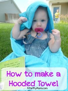how to make a hooded towel, diy, thrifty ways to save. thrifty gift ideas. hooded towel, sewing