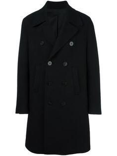 NEIL BARRETT double breasted overcoat. #neilbarrett #cloth #overcoat