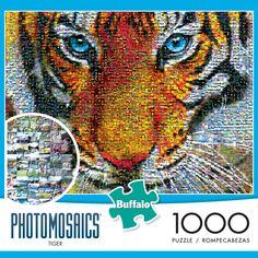 """Tiger"" 1,000 Piece Photomosaic Puzzle by Buffalo Games: #IAmAPuzzler…"