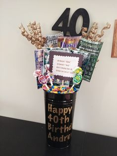 40th Birthday ideas. 50th birthday ideas. Lottery bouquet. Husband birthday gift idea.