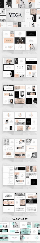Vega - Elegant Presentation. PowerPoint Templates. $15.00