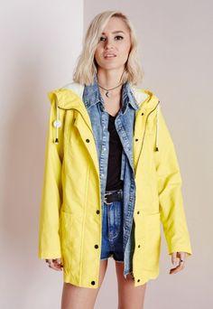 Festival Rain Mac Yellow - Coats and Jackets - Missguided