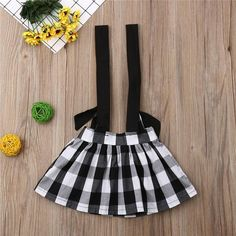 Black & White Plaid Overall Skirt from kidspetite.com!  Adorable & affordable baby, toddler & kids clothing. Shop from one of the best providers of children apparel at Kids Petite. FREE Worldwide Shipping to over 230+ countries ✈️  www.kidspetite.com  #newborn #girl #baby #skirts #infant