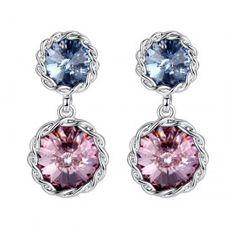 Swarovski Elements Crystal Stud Dangle Earrings