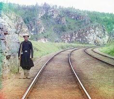 Bashkir switchman; 1910 Sergei Mikhailovich Prokudin-Gorskii Collection (Library of Congress).