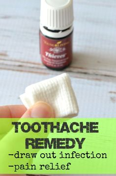 A simple, natural remedy for toothaches!