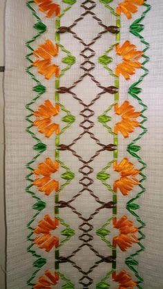 Chicken Scratch / Gingham Embroidery Index - & some history Dish Towel Embroidery, Silk Ribbon Embroidery, Hand Embroidery Designs, Floral Embroidery, Cross Stitch Embroidery, Ribbon Art, Ribbon Crafts, Lace Tattoo Design, Swedish Embroidery