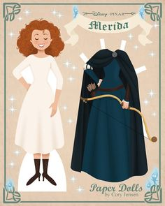 Merida Paper doll from Disney Movie Brave