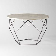 Origami Coffee Table | West Elm $399 - living room coffee table option (use 2); metal frame with shell top