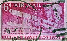 1952 Wright Brothers Stamp - Card: $8.05 #macro #photography #stamps #stampcollecting #antiques
