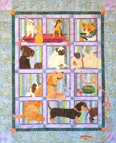 """Muchas Poochas"" by Karen Brow at Java House Quilts; BOM as seen at Stitchin' Heaven"
