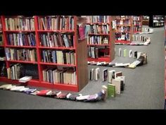 ▶ Bookmans Does Book Dominoes - YouTube