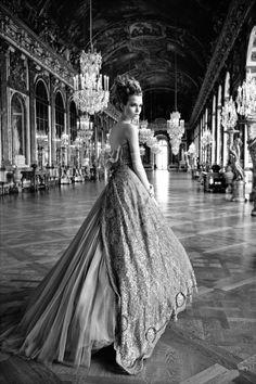 Josephine Skriver photographed by Patrick Demarchelier in the Château de Versailles