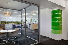 BASF Corporation {by Gensler via Interior Design Magazine} - well incorporated graphic signage