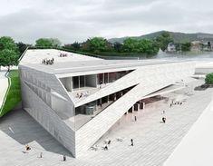 Folding Architecture – Plassen Cultural Center in Norway / 3XN Architects - eVolo | Architecture Magazine: