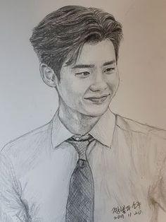 LEE JONG SUK WYWS-JAE CHAN Lee Jong Suk Cute, Lee Jung Suk, Han Hyo Joo, Kpop Drawings, Pencil Drawings, Easy Love Drawings, Chan Lee, Korean Painting, Face Sketch