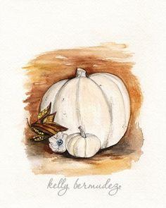 Cottage Pumpkin / Thanksgiving / Fall / Autumn / by kellybermudez, $19.00