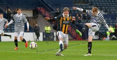 Queen's Park's Ciaran McElroy has a shot during the SPFL League Two game between Queen's Park and East Fife.