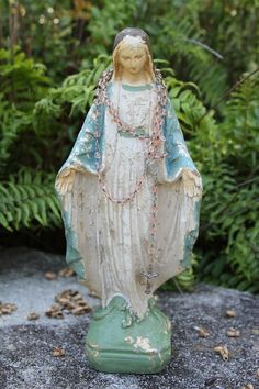 virgin mary~not old but in the style! Available at American Home & Garden in Ventura CA