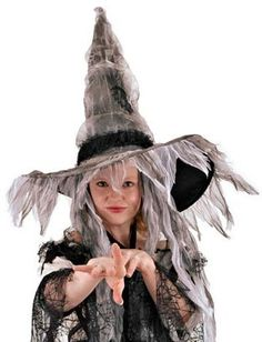 Adults Coffin Witch Halloween Costume Hat