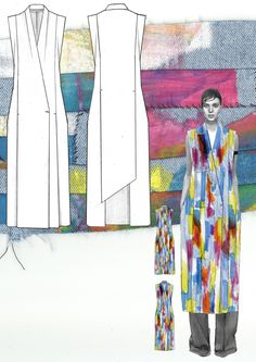 SPORT MAX DESIGN PROJECT FOR MAX MARA FASHION AWARD 2015  Winner of Max Mara Fashion Award 2015. Range designed for Sportmax, womenswear collection focused on one piece pattern cutting and organic open screen print techniques.  Researched developed around the work of contemporary artists Jonathan Mess and Edoardo de Falchi, thermochromic print techniques explored on technical acetates. Double faced wool, printed leather and fully waterproofed acetate were used for the final outfits.  All…