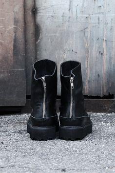 shoes ankle boots BLACK BOOTS Mens back zipper black by Bythershop 6899e109e08