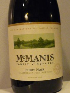 McManis 2009 Pinot Noir, Wine Enthusiast Top 100 Best Buys 2011 (#24), 88 points, $10