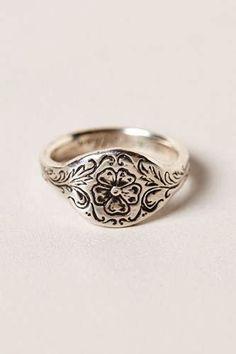 Whiting Davis Silver Bangle Bracelet Hinged Floral Cuff Vintage