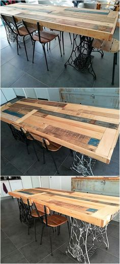 This is a simple and yet quite mind-blowing dining table effect into it that sounds to be so much interesting and catchier thing to try on in your house furniture. This wood pallet dining table design framework has been all custom finished with the sleek designs and hues work.