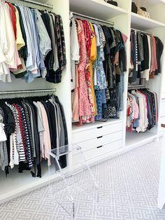 Master Closet Design, Walk In Closet Design, Closet Designs, Closet Renovation, Closet Remodel, Organizing Walk In Closet, Closet Storage, Closet Layout, Womens Closet