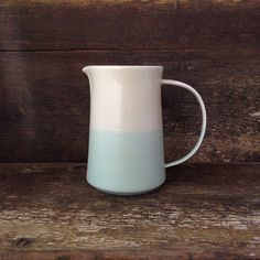 The Danish Pitcher in Mint  Cream Color by paperandclaystudio, $148.00