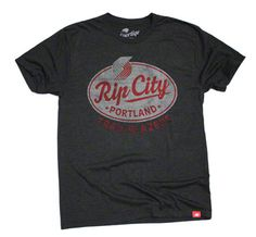 Portland Trail Blazers 'Rip City' Eastside Comfy Tri-Blend Tee - Black