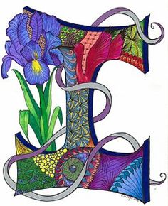 Zentangle Acrylic Prints and Zentangle Acrylic Art (Page of Flower Alphabet, Alphabet Art, Spirit Art, Scrapbook Letters, Hand Lettering Fonts, Typography, Illuminated Letters, Art Pages, Acrylic Art