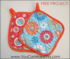 "Download Free! Make Hot Pads! A ""You Can SEW This!"" Project Sewing Pattern 