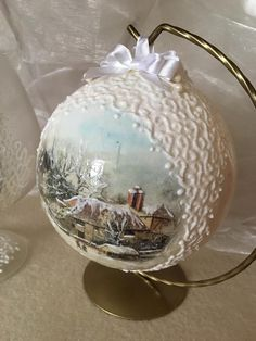 Ornaments Design, Diy Christmas Ornaments, Handmade Christmas, Christmas Tree Ornaments, Christmas Holidays, Christmas Decoupage, Navidad Diy, Advent, Country Christmas