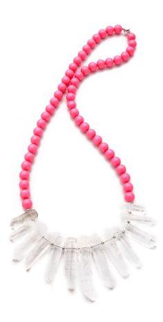 Neon quartz necklace.
