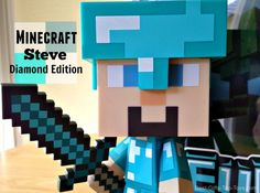 We bought the Minecraft 6 Inch Diamond Steve Vinyl Figure for our son because he loves the diamond edition Steve. This Minecraft 6 Inch Diamond Steve Vinyl Figure costs around. Cool Presents, Cool Gifts, Best Gifts, Tween Boy Gifts, Gifts For Boys, Minecraft Toys For Kids, Toys For Boys, Kids Toys, 10 Year Old Girl