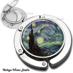 Compact mirror and purse hook by Beluga Home Studio.