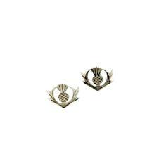 Silver Thistle Earrings