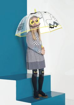 Stella McCartney Halloween umbrella and gorgeous owl tights for fall 2013 kids fashion