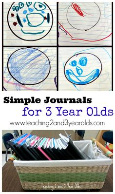 journals with 3 year olds