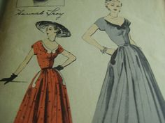 Vintage 1950's Advance 6443 Hannah Troy Designer by TheLastPixie