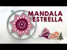 DIY Tutorial - How to Crochet Mandala Dreamcatcher Crochet Mandala Pattern, Crochet Stitches, Crochet Patterns, Crochet Gifts, Crochet Baby, Crochet Wall Art, Dream Catcher Tutorial, Crochet Dreamcatcher, Dream Catcher Craft