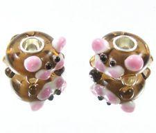 1PCS LAMPWORK Animal Silver Murano Lampwork Glass Bead fit European Bracelet D59