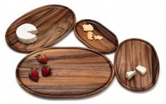 Beautiful acacia oval platters are perfect for serving and presenting fruits, vegetables, cheeses, etc. Great for entertaining.