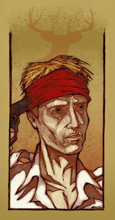 The Deer Hunter - cartoon version of Nick played by the brilliant Christopher Walken