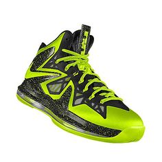 afa4f1d80281 Custom Nike iD LeBron X PS Elite Volt Black